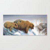 bears Canvas Prints featuring bears by Alessandra Razzi Illustrazioni