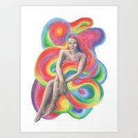 Female hair Art Print