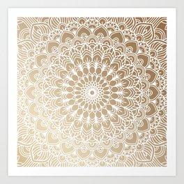 Gold Mandala 19 Art Print