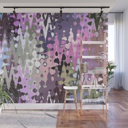 Violet shades icicles, abstract geometric jagged shapes, sharp forms Wall Mural