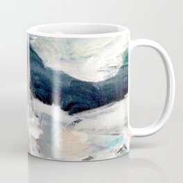 Eye of the Storm [2] - abstract mixed media piece in blues, white, and red Coffee Mug