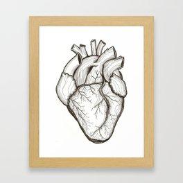 String Theory: Drawn Heart Framed Art Print