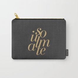 Soulmate Typo #society6 #decor #buyart Carry-All Pouch