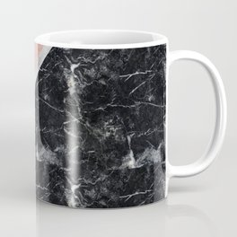Faux Rose Glitter and Marble Pattern Coffee Mug