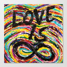 Love is Infinite Canvas Print