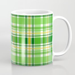 St Patrick's Day Lucky Green Plaid Pattern Coffee Mug