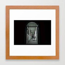 Where my darkness goes Framed Art Print