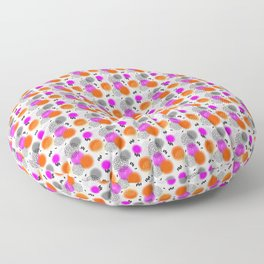 Modern Pink Orange Mix Memphis Abstract Pattern Floor Pillow