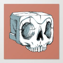 Sugar Cube Skull Canvas Print