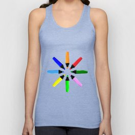 Circle of Highlighter Pens Unisex Tank Top