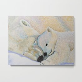 Polar Bear Love #2 Metal Print