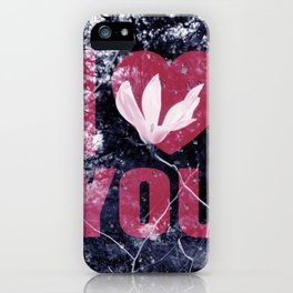 I Love You Floral iPhone Case