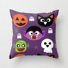 Halloween friends Throw Pillow