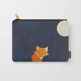 Origami Fox and Moon Carry-All Pouch