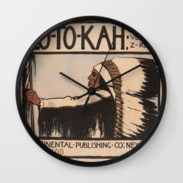 Lo-To-Kah Poster Wall Clock