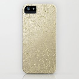 Gold Centered 22 lh iPhone Case