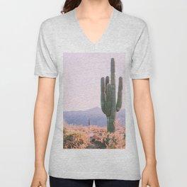 Cactus, Saguaro Cactus, Desert Wall Art Unisex V-Neck
