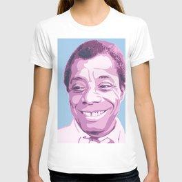 James Baldwin Portrait Blue Purple T-shirt