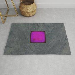 Slate Gray Lavender Fuschia Modern Art Rug