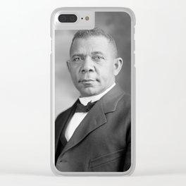 Booker T. Washington Clear iPhone Case