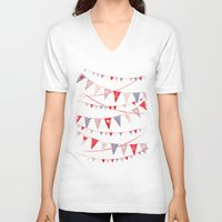card V-neck T-shirts featuring Hate card by Lime