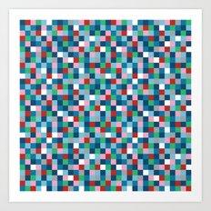 Colour Block Mini #4 Art Print