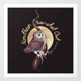 Northern Saw-whet Owl Art Print