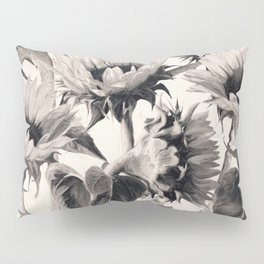 Sunflowers in Soft Sepia Pillow Sham