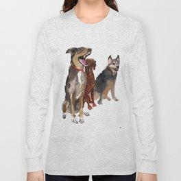 watercolor dog vol2 Pointer, Coonhound, Alaskan Long Sleeve T-shirt