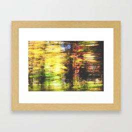 speed of fall Framed Art Print