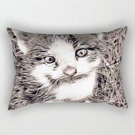 Rustic Style - Kitten Rectangular Pillow