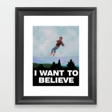 I Want to Believe in this Future Framed Art Print
