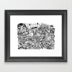 Cartoon Wedding Poster Framed Art Print
