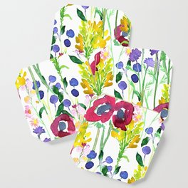 Wildflowers Watercolor Coaster