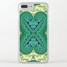 Tribal Twin Hearts Clear iPhone Case