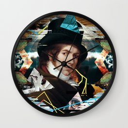 Lost in collage Wall Clock