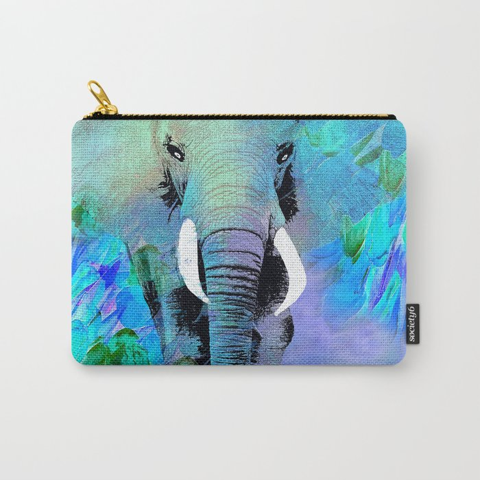 ELEPHANT BLUE Carry-All Pouch
