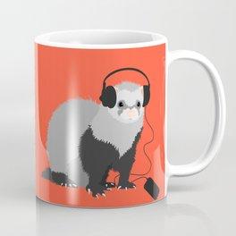 Music Loving Ferret Coffee Mug