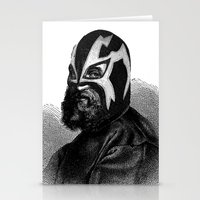 wrestling Stationery Cards featuring WRESTLING MASK 9 by DIVIDUS