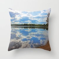 mirror Throw Pillows featuring Mirror by NaturallyJess
