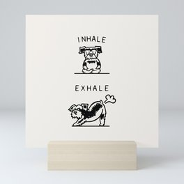 Inhale Exhale Schnauzer Mini Art Print