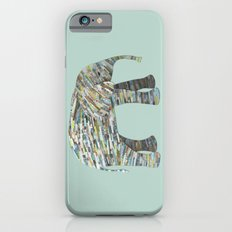 Elephant Paper Collage in Gray, Aqua and Seafoam Slim Case iPhone 6s