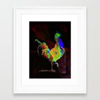 rooster Framed Art Prints featuring ROOSTER by mimulux
