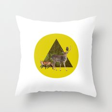 Forest Creatures Throw Pillow