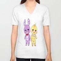 fnaf V-neck T-shirts featuring FNAF  by Aribunni
