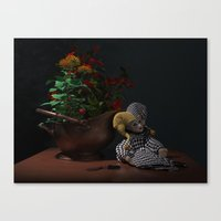 doll Canvas Prints featuring Doll by Joseph Miller