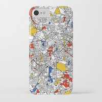 mondrian iPhone & iPod Cases featuring Berlin mondrian by Mondrian Maps
