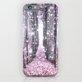 Magical Forest Pink Gray Elegance iPhone Case