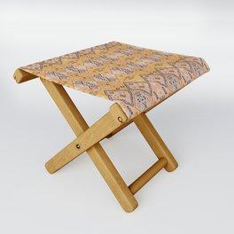 N218 - Mustard Yellow Oriental Heritage Boho Traditional Moroccan Desert Style Folding Stool