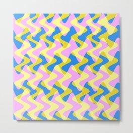 Crosswave Pink - Electron Series 003 Metal Print